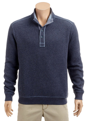 Tommy Bahama - Via Norte Button Mock - Sweater - T223112