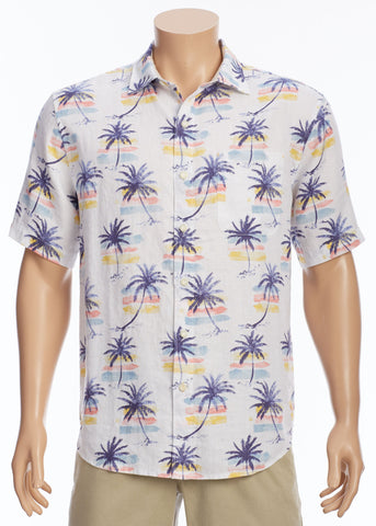 Tommy Bahama -  Sunset Palm Camp Shirt - Linen Shirt - T322476