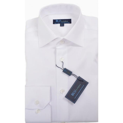 Polifroni - Blu-360 - Long Sleeve Shirt - 01 White - Shaped Fit