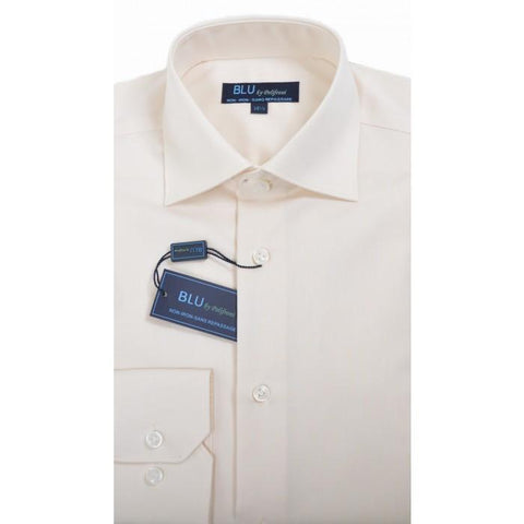 Polifroni - Blu-360 - Long Sleeve Shirt - 05 Ivory - Shaped Fit