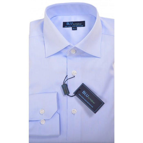 Polifroni - Blu-360 - Long Sleeve Shirt - 18 Light Blue - Shaped Fit