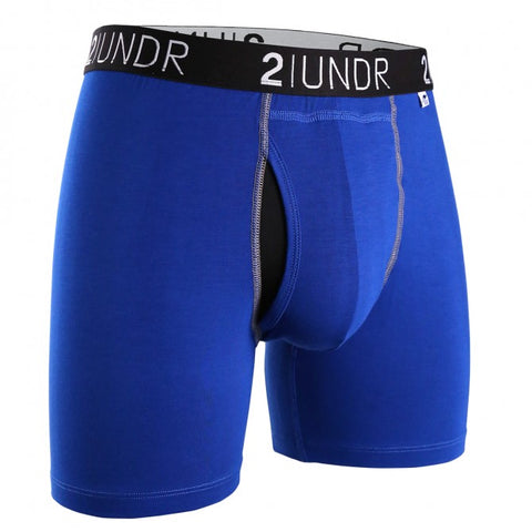 "2UNDR - 6"" Swing Shift Boxer Briefs - 2U01BB - Blue/Blue"