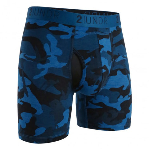 "2UNDR - 6"" Swing Shift Boxer Briefs - 2U01BB - Night Camo"