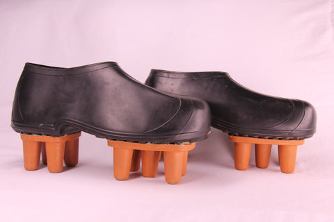 Boot Spike Set with Rubber Boots Attached