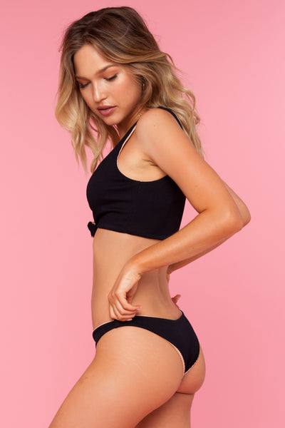 Bombshell Top - Black Honey