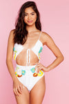 Smitten One Piece - Blooms White