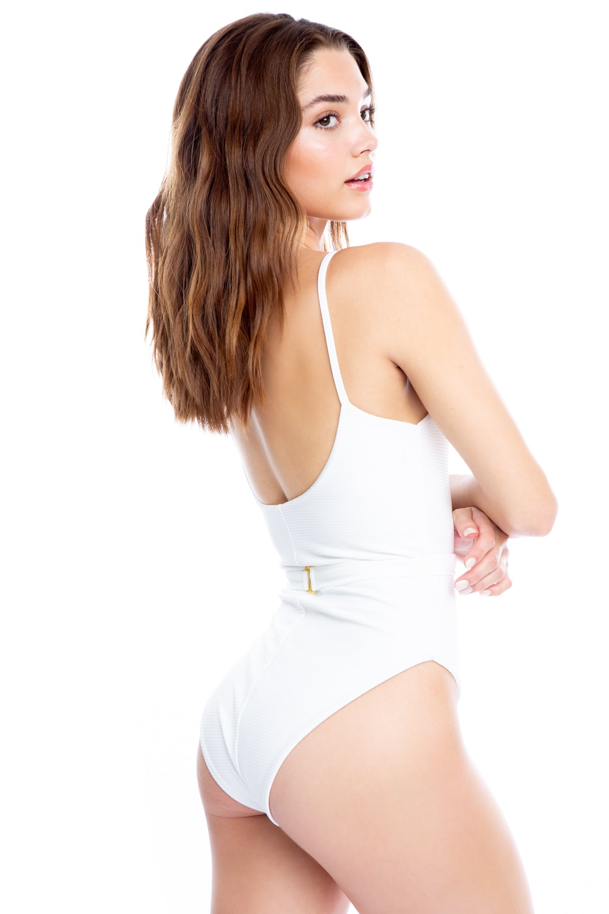 Good Looking One Piece - White Rib