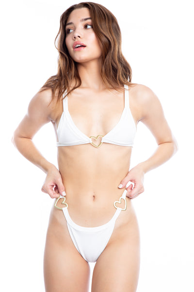 Lover Boy Bottom - White Rib