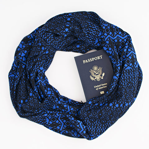 The Kingston Speakeasy Travel Supply passport scarf.