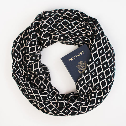 The Odessa Speakeasy Travel Supply passport scarf.