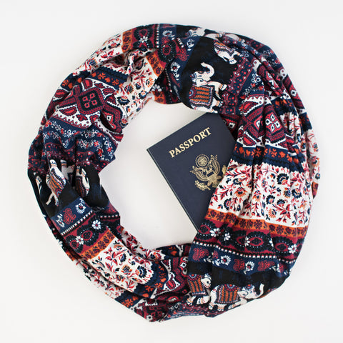The Rajasthan Speakeasy Travel Supply passport scarf.