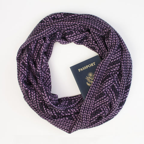 The Saint Cloud Speakeasy Travel Supply stash scarf.