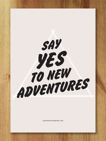 New Adventures Print - Speakeasy Travel Supply Co.