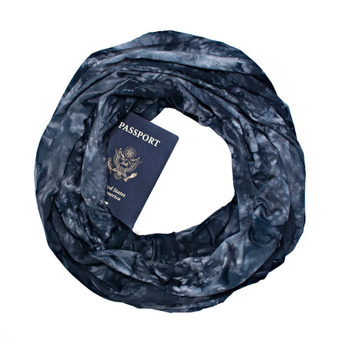 Bamboo Scarf ~ Monaco Black - Speakeasy Travel Supply Co.