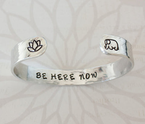 Be Here Now >> Travel Inspired Secret Message Cuff Bracelet - Speakeasy Travel Supply Co.