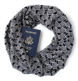 Roanoke Secret Pocket Travel Scarf