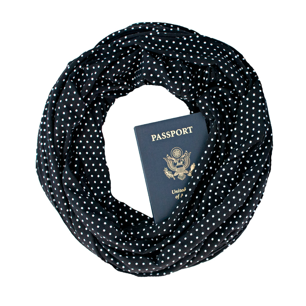 Bamboo Scarf ~ Rue Crémieux Black - Speakeasy Travel Supply Co.