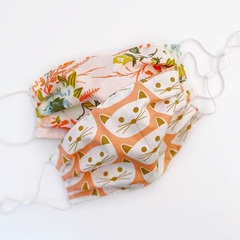 Cats Meow - Reversible Cotton Face Mask
