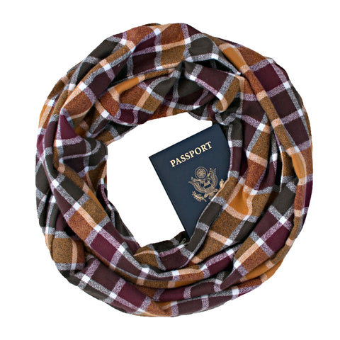 Chestnut Hill Flannel Scarf - Speakeasy Travel Supply Co.