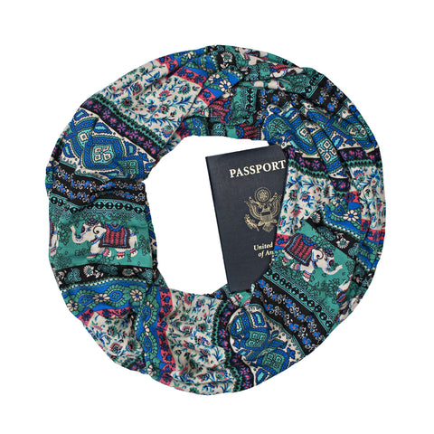 Rajasthan Teal Scarf - Speakeasy Travel Supply Co.