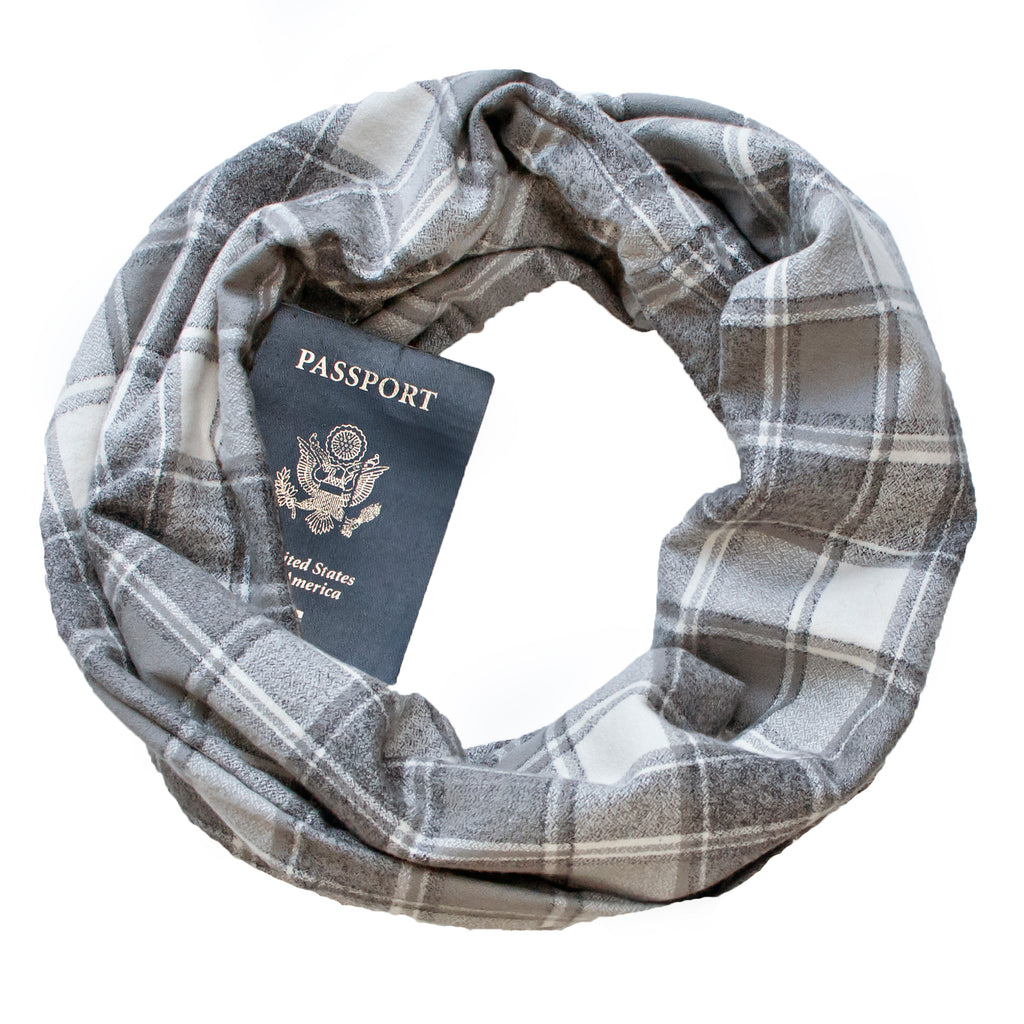 Going Grey Flannel Scarf - Speakeasy Travel Supply Co.