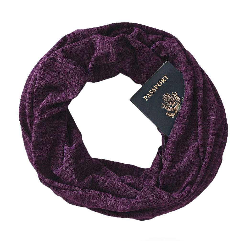 Soda Springs Scarf Plum - Speakeasy Travel Supply Co.