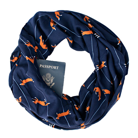 Fox Family Scarf - Speakeasy Travel Supply Co.