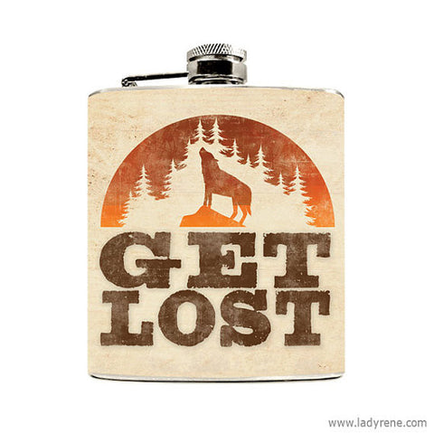 Get Lost Flask - Speakeasy Travel Supply Co.