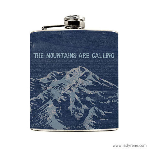 The Mountains Are Calling Flask - Speakeasy Travel Supply Co.