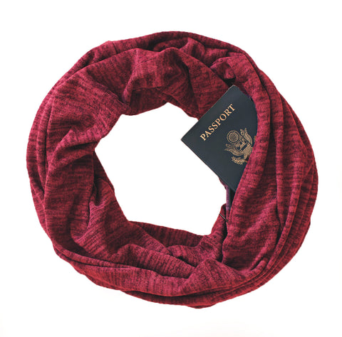 Soda Springs Scarf Brick Red - Speakeasy Travel Supply Co.