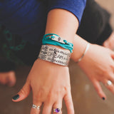 Live beautifully, Dream passionately, Love completely Cuff Bracelet - Speakeasy Travel Supply Co.