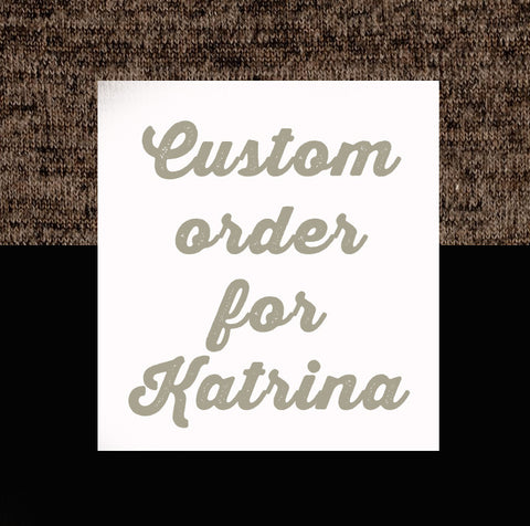 Reserved for Katrina - Speakeasy Travel Supply Co.