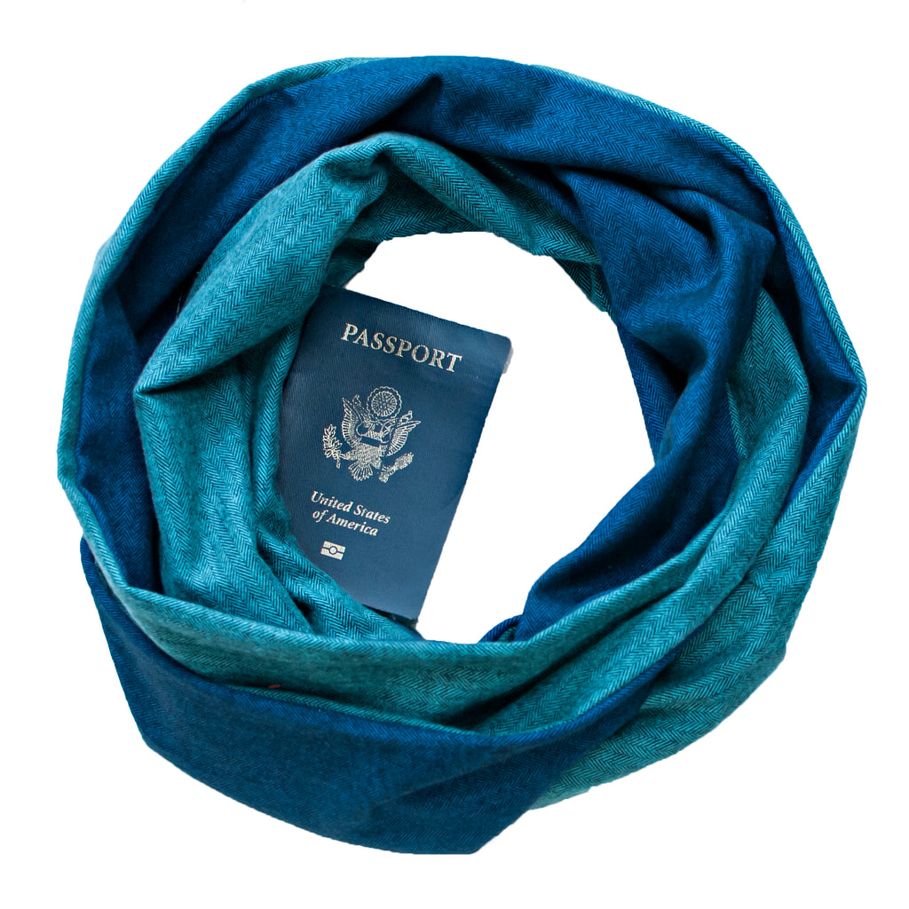 Oceans Flannel Scarf - Speakeasy Travel Supply Co.