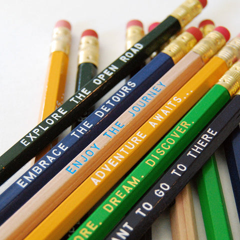 Travel Inspired 12 Pack of Pencils - Speakeasy Travel Supply Co.