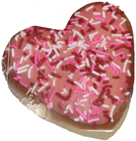 Cream Filled Heart Donuts