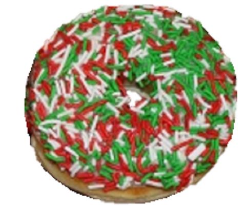 Christmas Sprinkle Ring Donut
