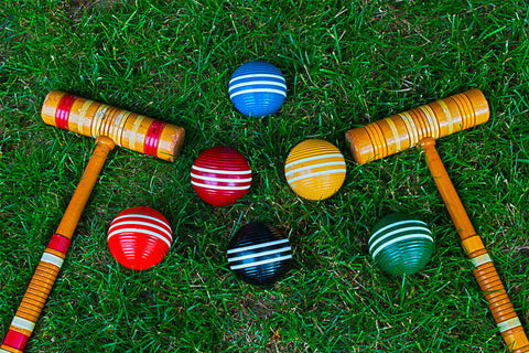 Remember how to play croquet? Maybe it's a game the grandparents can be recruited into teaching.