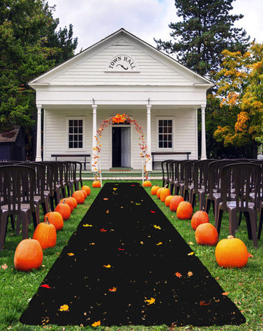 Black Outdoor Carpet Runners from House Home & More make a quick and easy grand entrance.