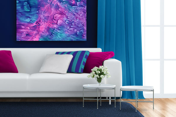 Stunning interior design can be easy as finding a piece of art, and color matching around that.