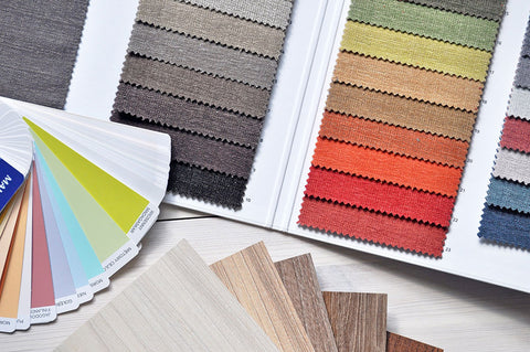 Color matching your interior design is easy when you've got swatches to work with.