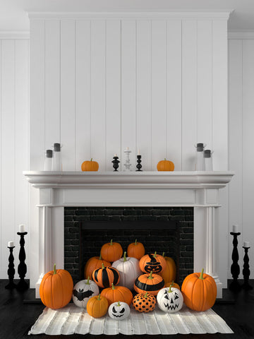 This fireplace is the perfect blend of elegant and creepy.
