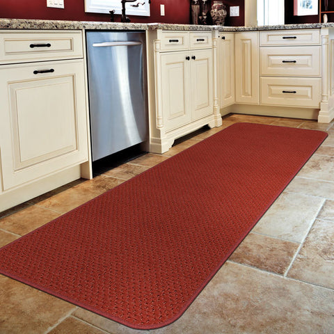 A carpet runner from House Home & More is perfect if your kitchen is long and skinny.