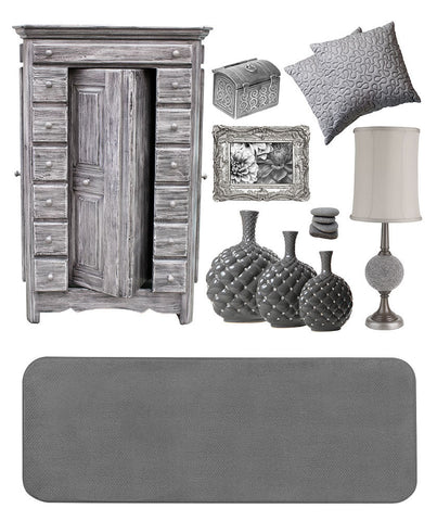 Gray area rugs, accessories, or furniture; the options are endless.