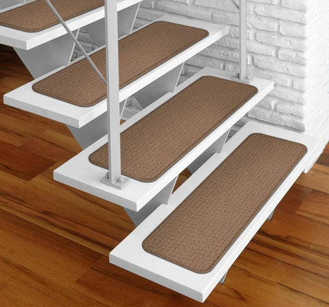 modern stairs with adhesive stair treads