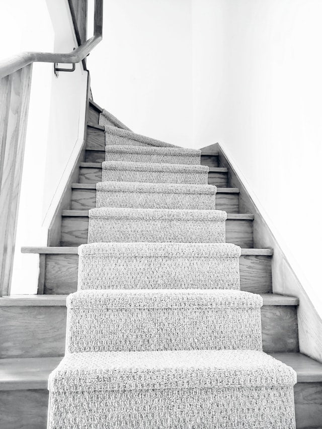 stairs with carpet runner