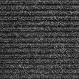 Heavy-Duty Ribbed Indoor Outdoor Carpet Charcoal Black