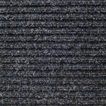 Heavy-Duty Ribbed Indoor Outdoor Carpet Stormy Blue