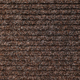 Heavy-Duty Ribbed Indoor Outdoor Carpet Tuscan Brown