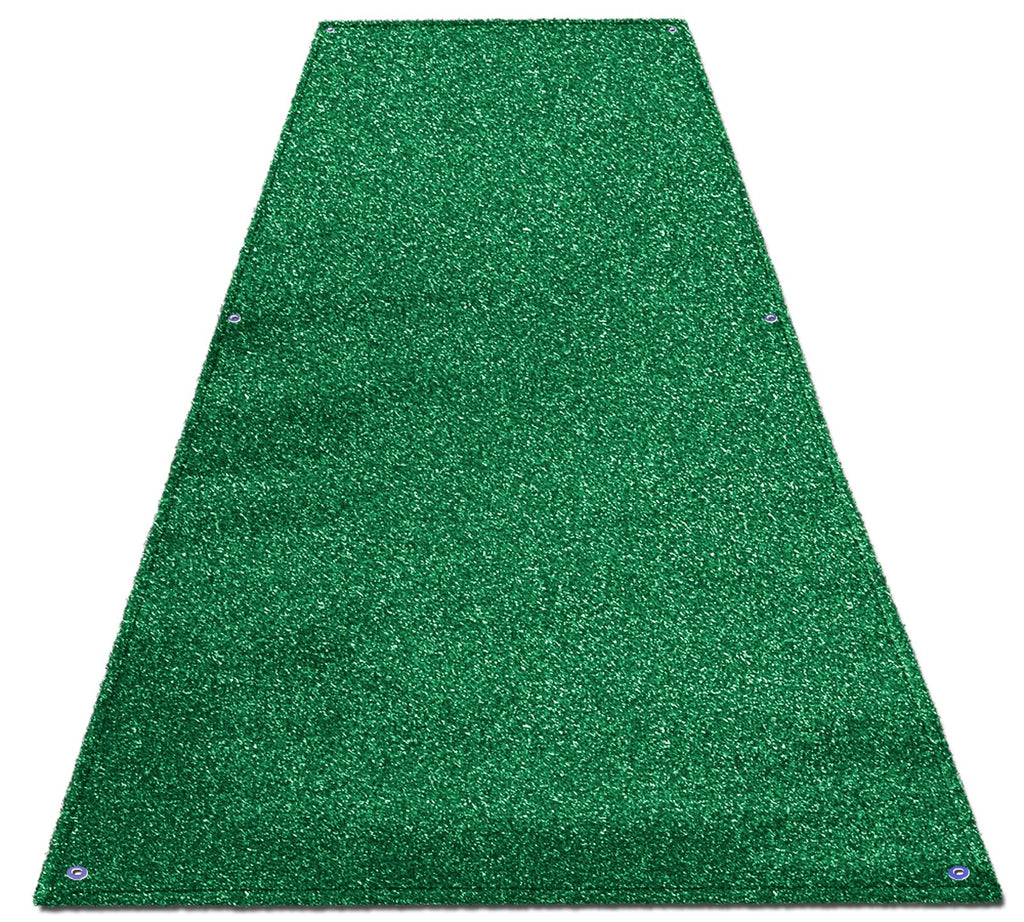 Green Artificial Turf Runners Durable Fade Resistant