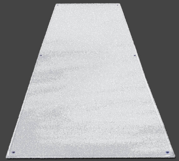 White Artificial Turf Runners Durable Fade Resistant